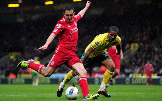 EPL,Stewart Downing,Norwich City v Liverpool