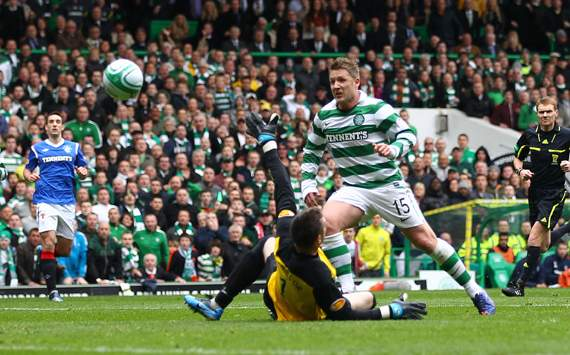 Celtic vs Rangers , Kris Commons & Allan McGregor