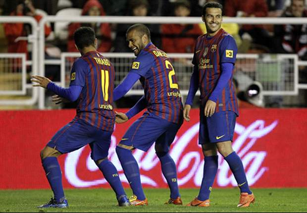Alves and Thiago apologize for Barcelona goal celebration during win over Rayo Vallecano