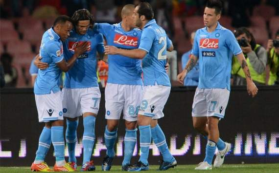 Napoli celebrating (Serie A, Getty Images)
