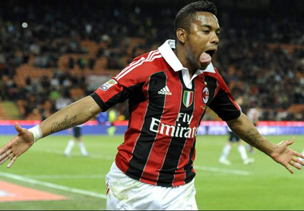 Robinho plays down Santos rumors: I'm happy at AC Milan