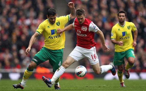 EPL: Aaron Ramsey - Bradley Johnson, Arsenal v Norwich City