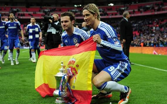 FA Cup - Liverpool v Chelsea, Juan Mata and Fernando Torres