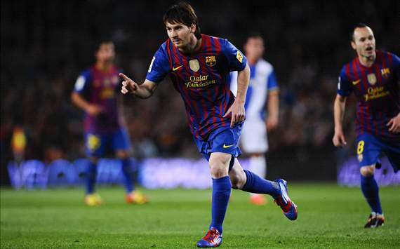 Lionel Messi reaches half century to close in on European Golden Shoe award