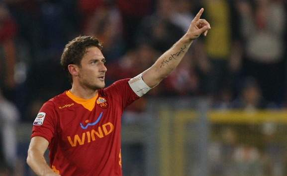 Totti durante Roma-Catania (Serie A, Getty Images)