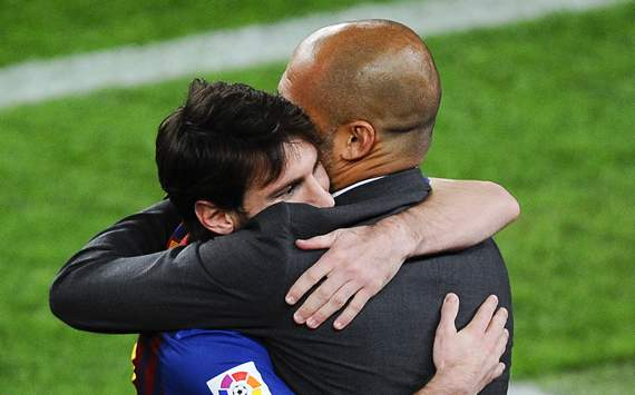 Leo Messi, Pep Guardiola - FC Barcelona
