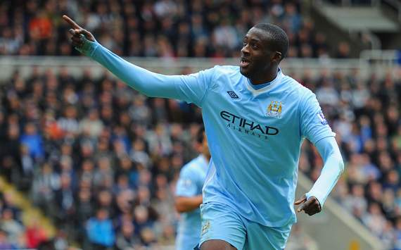 EPL-	 Newcastle United v Manchester City, Yaya Toure