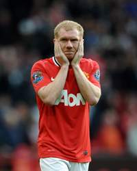 EPL- Manchester United v Swansea City, Paul Scholes