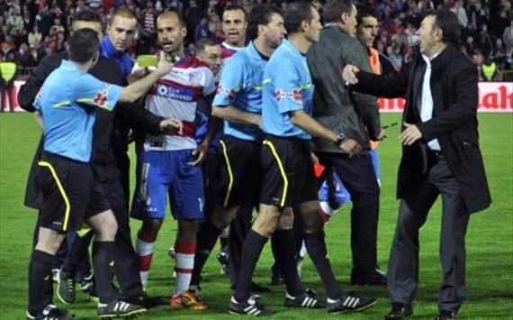 Granada's Dani Benitez hit with three-month ban for bottle-throwing incident