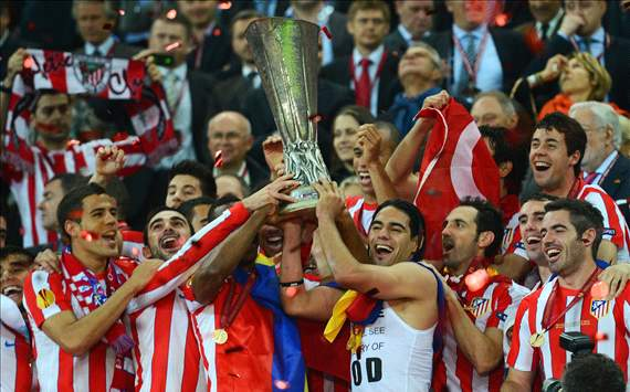 Falcao inspires Atletico to Europa victory