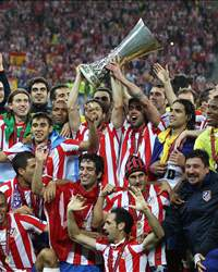 UEFA Europa League: Atletico Madrid celebration