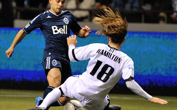 Davide Chiumiento; Paul Hamilton - Vancouver Whitecaps vs. FC Edmonton