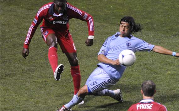 Jalil Anibaba, Chicago Fire; Roger Espinoza, Sporting Kansas City; MLS