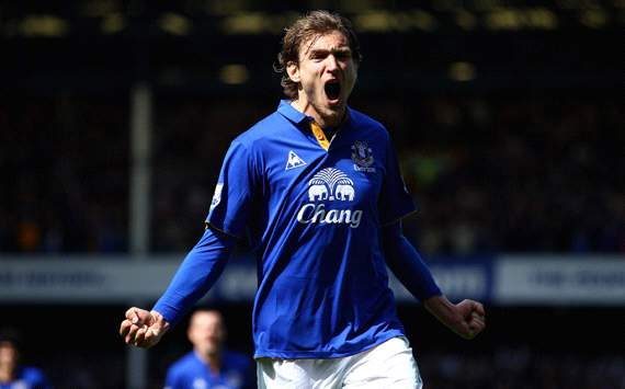 EPL: Nikica Jelavic, Everton v Newcastle United