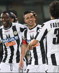 Udinese celebrating 