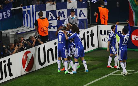 UEFA Champions League: FC Bayern Mnchen - FC Chelsea, Chelsea celebrating