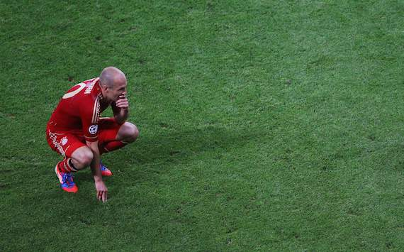 First the World Cup final, now the Champions League showpiece  Arjen Robben proves that he is a big-game choker