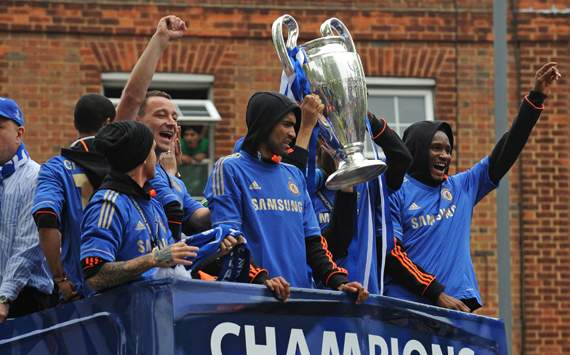Chelsea FC Victory Parade - John Terry, Jose Bosingwa and Mikel