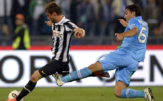 Claudio Marchisio (J), Salvatore Aronica (N) - Juventus-Napoli - Italy Cup (Getty Images)