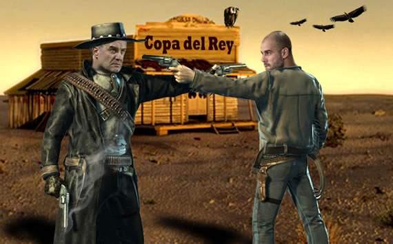 Ultima batalla entre Bielsa y Guardiola. Fotomontaje