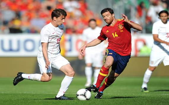 Xabi Alonso; Filip Duricic - Spain vs Serbia