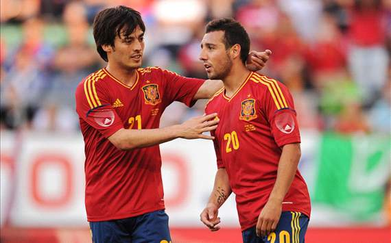 David Silva and Santi Cazorla - Spain  vs Serbia