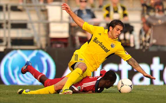 Carlos Mendes, Columbus Crew; Patrick Nyarko, Chicago Fire; MLS