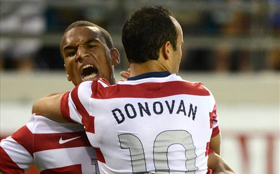 Landon Donovan and Terrence Boyd, USA - Scotland