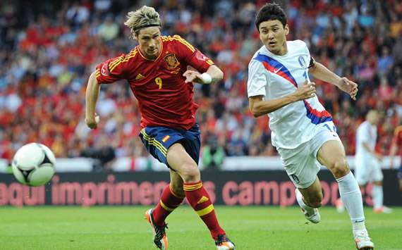 Fernando Torres; Jung Soo Lee, Spain, Korea Republic