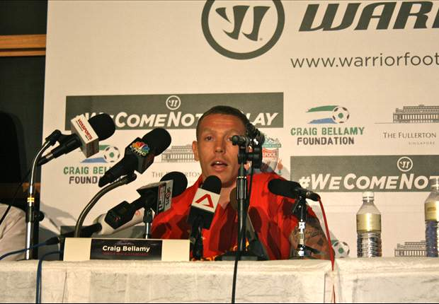Craig Bellamy in Singapore for launch of Liverpool kit