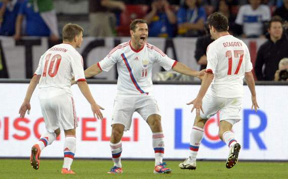 Russia players celebrating - Italy-Russia