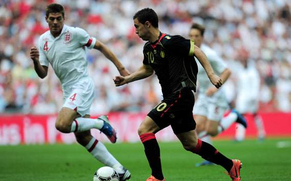 International Friendly: Eden Hazard, England v Belgium