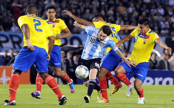 Lionel Messi, durante el Argentina-Ecuador