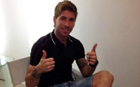 Sergio Ramos luce nuevo peinado con España