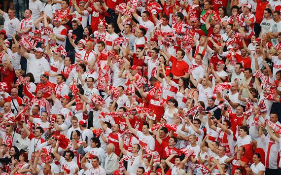 Poland fans in Warsaw