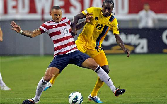 Jermaine Jones, USA; Tamorley Thomas, Antigua & Barbuda
