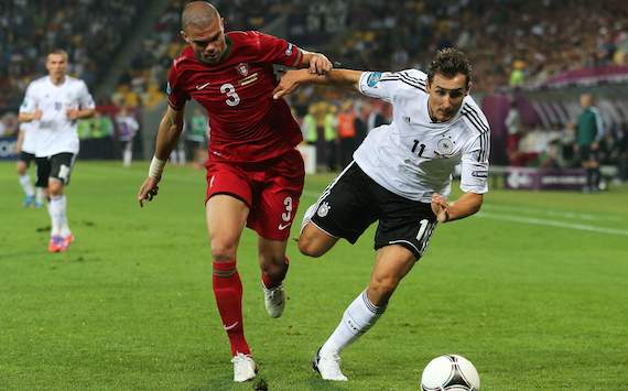 UEFA EURO 2012 - Group B: Germany vs. Portugal - Miroslav Klose & Pepe