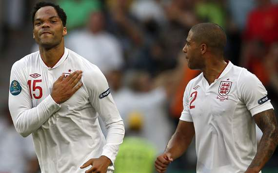 UEFA Euro 2012 - France vs England,Joleon Lescott & Glen Johnson