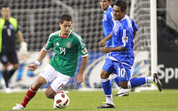 Javier Hernández, Mexico vs. El Salvador, Gold Cup 2011 (Getty)