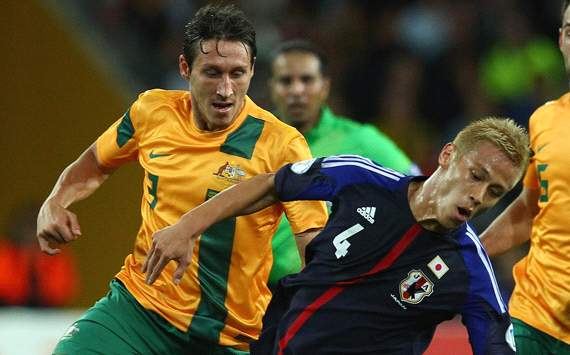 Australia - Socceroos - Japan - Mark Milligan - Keisuke Honda
