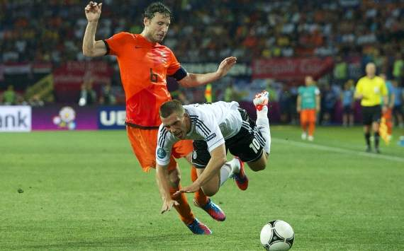 Euro 2012, Netherlands vs. Germany, Mark van Bommel, Lukas Podolski