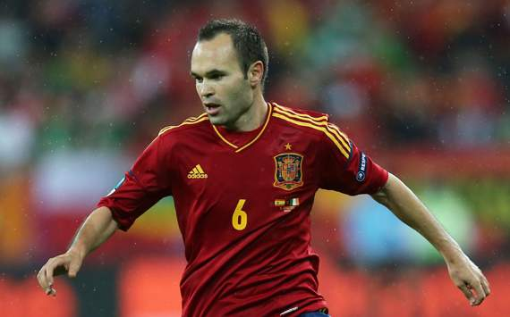Iniesta named Euro 2012 Player of the Tournament