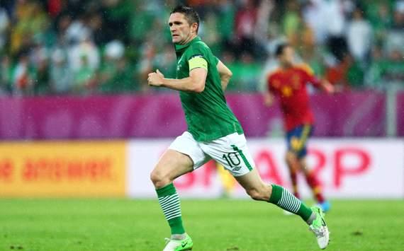 UEFA EURO 2012 : Robbie Keane, Spain v Ireland