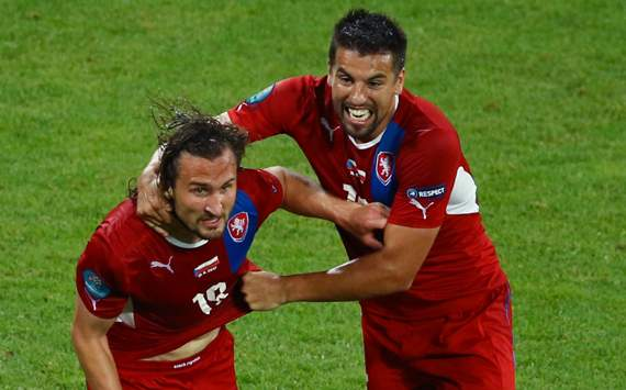 Petr Jiracek &amp; Milan Baros, Czech v Poland (EURO 2012)