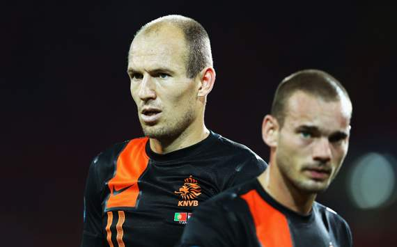 Sneijder &amp; Robben omitted from Netherlands squad for Italy friendly