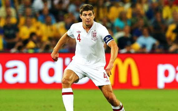 A proud centurion but Gerrard never joined Moore & Shilton as an England legend