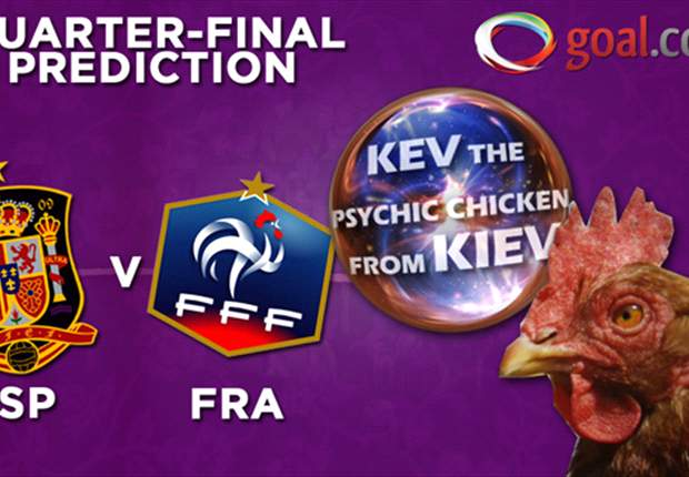 Kev the psychic chicken from Kiev predicts Euro 2012! Spain vs France