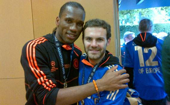 Mata tells Drogba: 'It's been a pleasure to play with you'