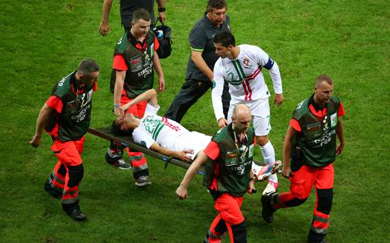 Portugal striker Postiga set to miss semi-final
