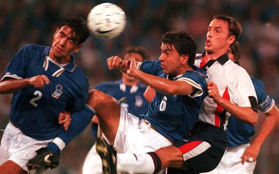 1998 World Cup qualifier - England - Italy - Rome - 1997